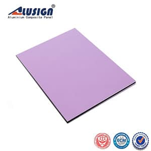 High-gloss light purple curtain wall aluminum composite panel