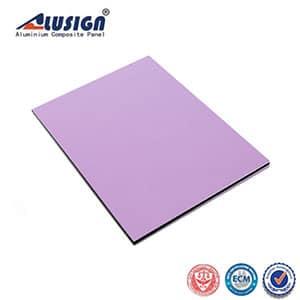 High-gloss light purple curtain wall aluminum composite panel