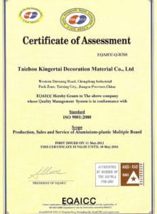 certificate of alusign