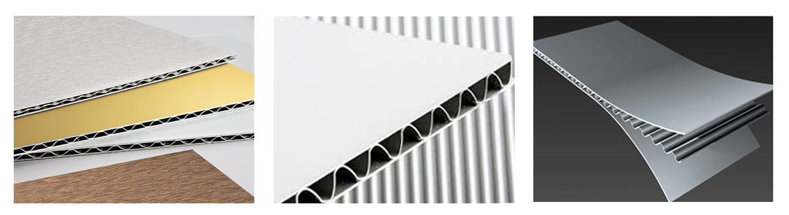 aluminum corrugated core panel